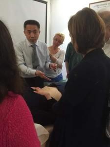 Dr Wang explaining Ren 4
